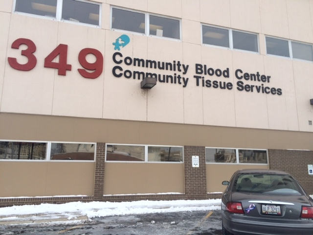 Community Blood Center in Dayton (WDTN PhotoMaytal Levi)_72357