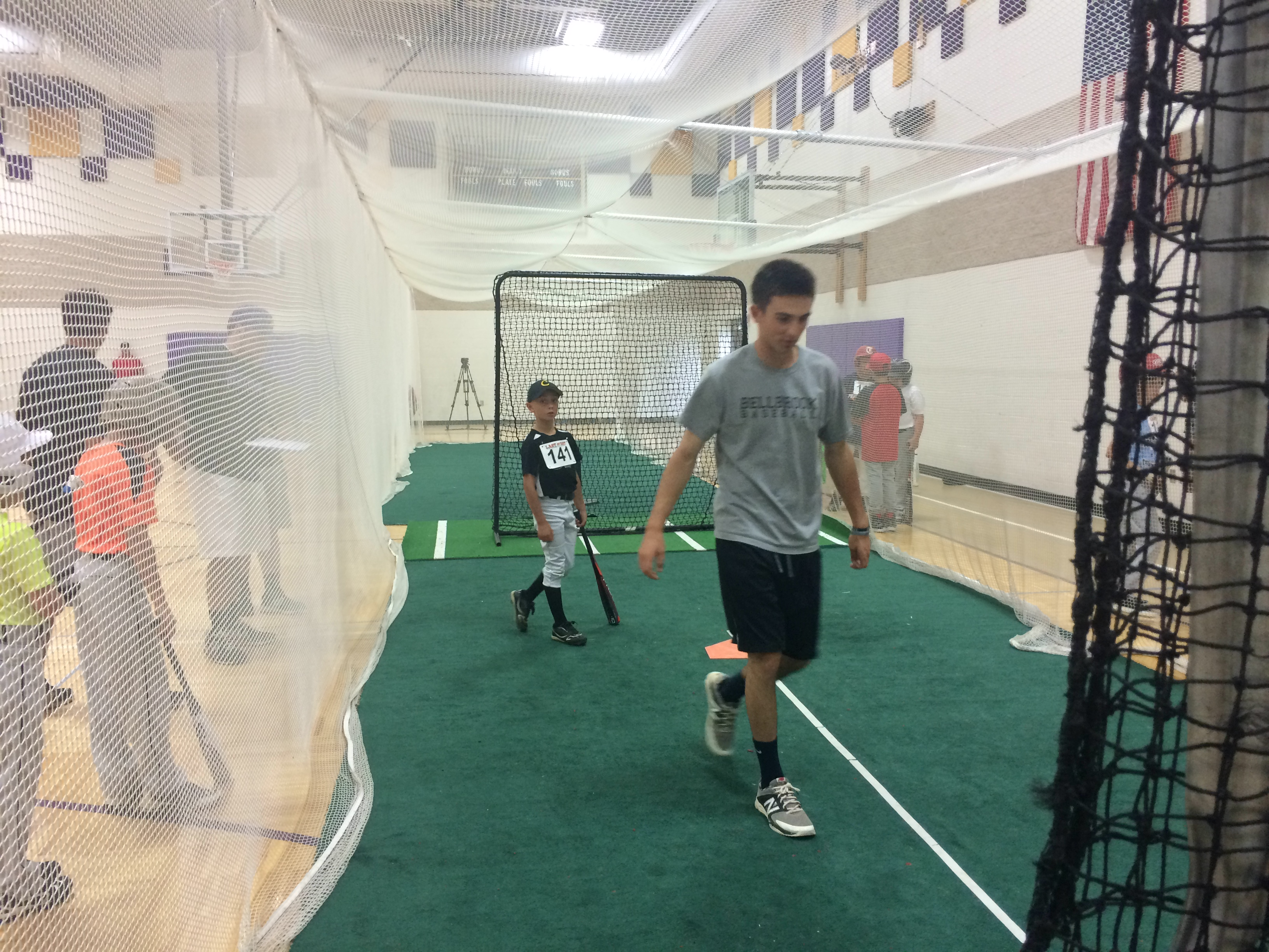 Acting hopefuls showed off their batting prowess. (Photo by: WDTN/Jake Ryle)