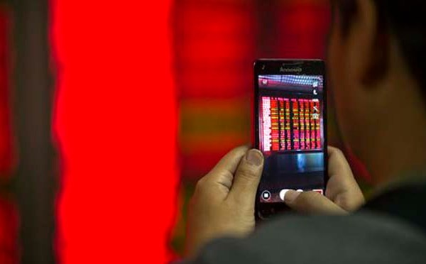 APTOPIX China Financial Markets_135474