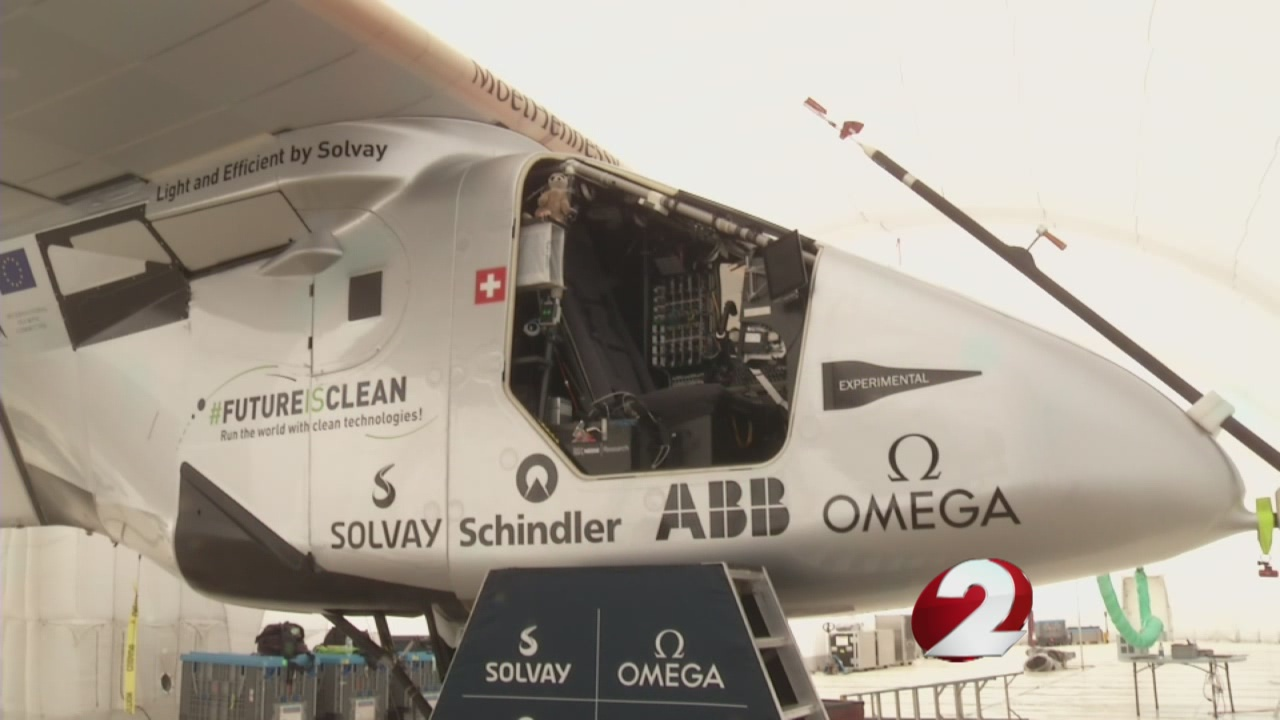 A solar-powered plane that was scheduled to leave Dayton Tuesday morning will not leave the Miami Valley on time._161566