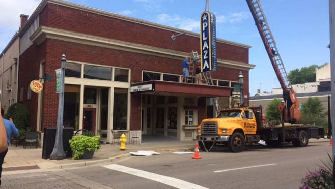 8-31 Plaza Theater gets sign_188413