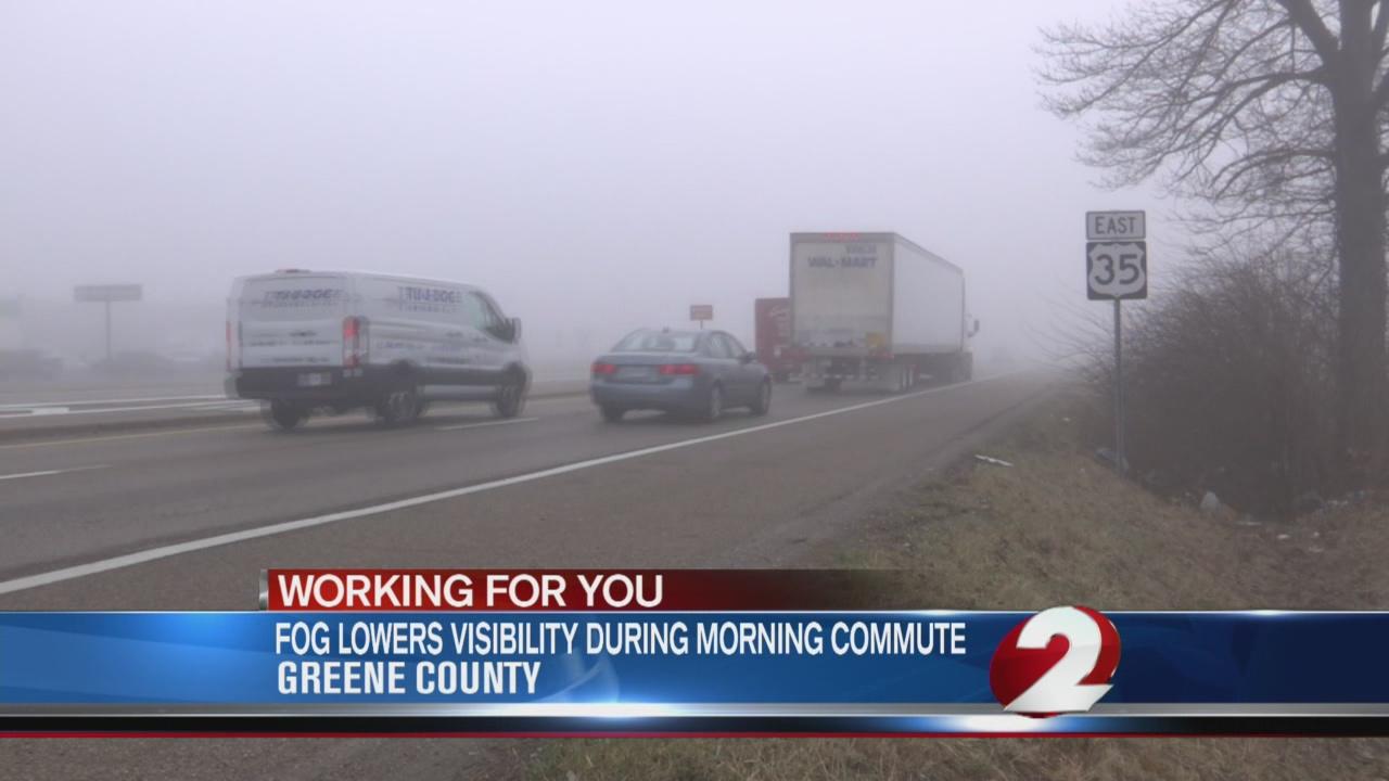 Drivers face foggy commute