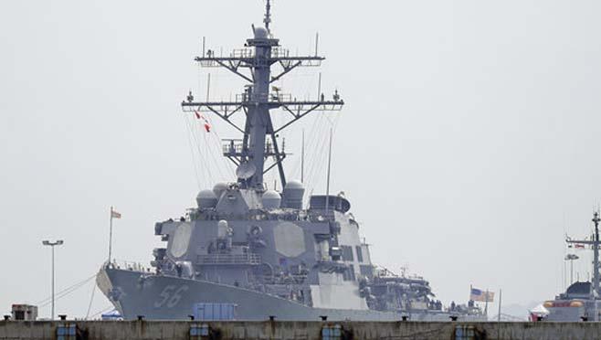 APTOPIX Singapore US Navy Ship Collision_263782