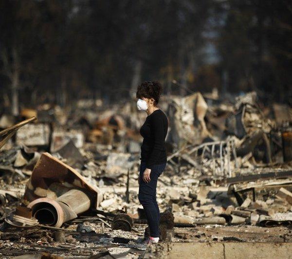 California wildfire damage_274624