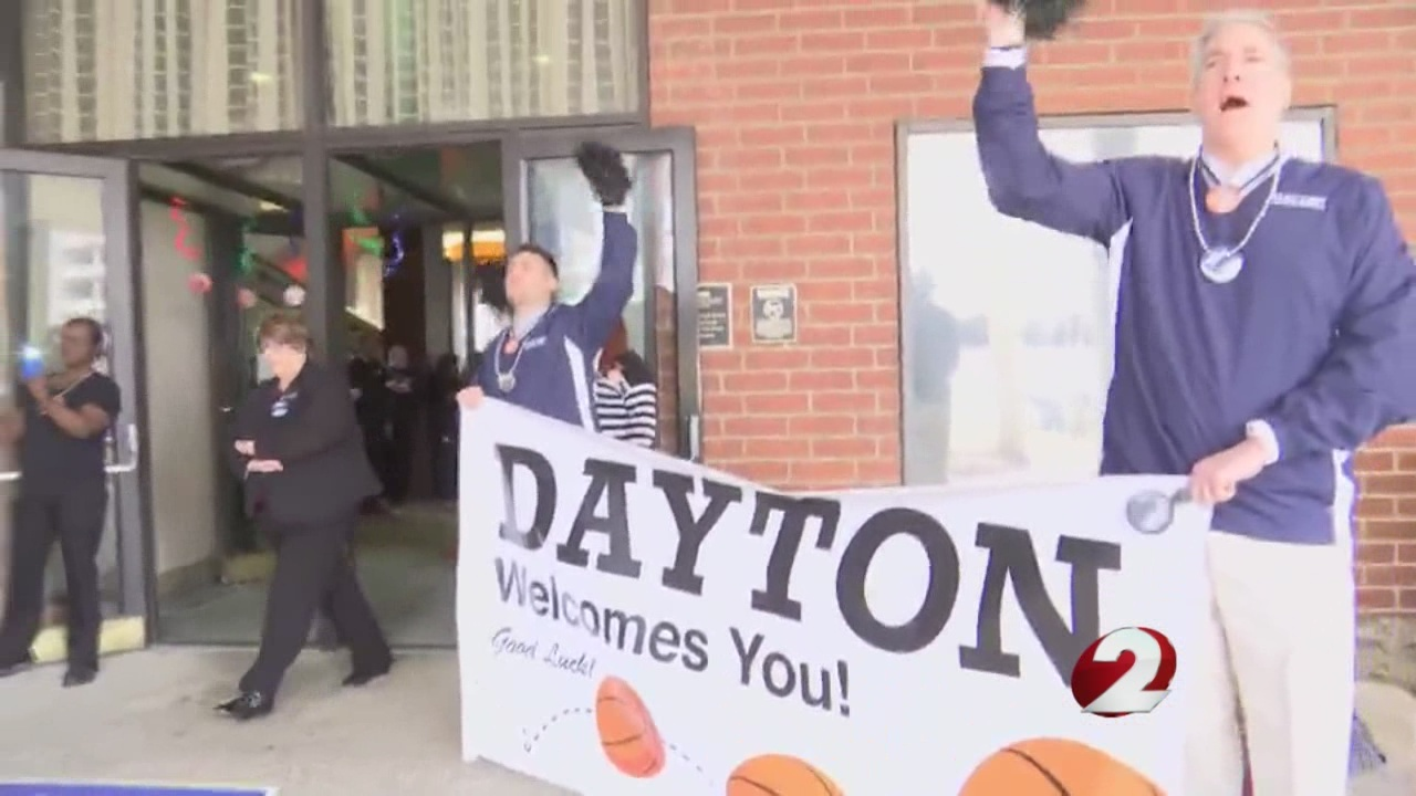web First Four Teams Arrive in Dayton