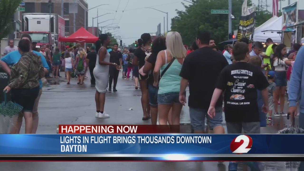 Thousands descend on downtown Dayton for Lights in Flight Festival