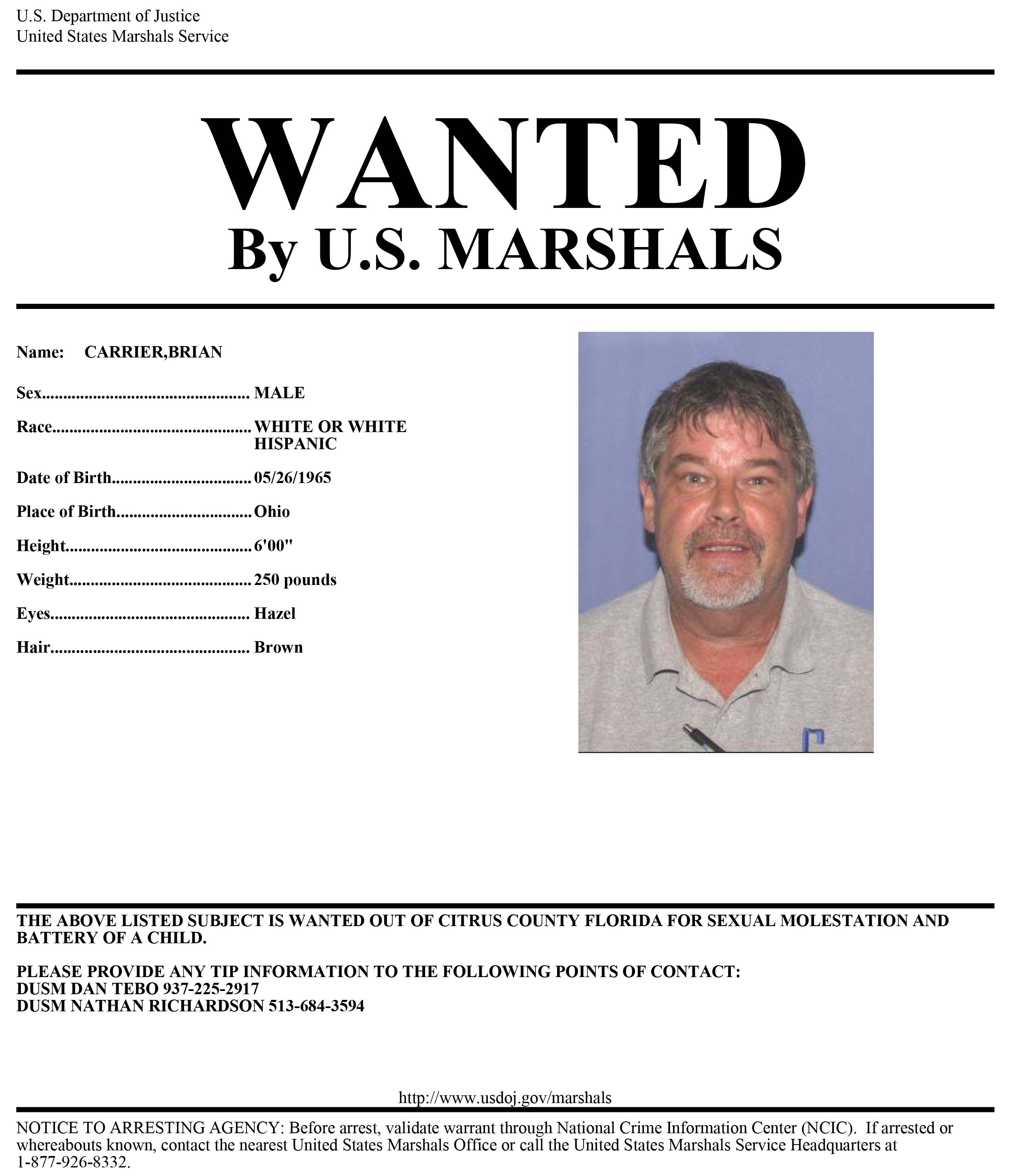 Man wanted for child molestation in Florida believed to be