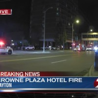 Crowne Plaza Hotel evacuated for fire