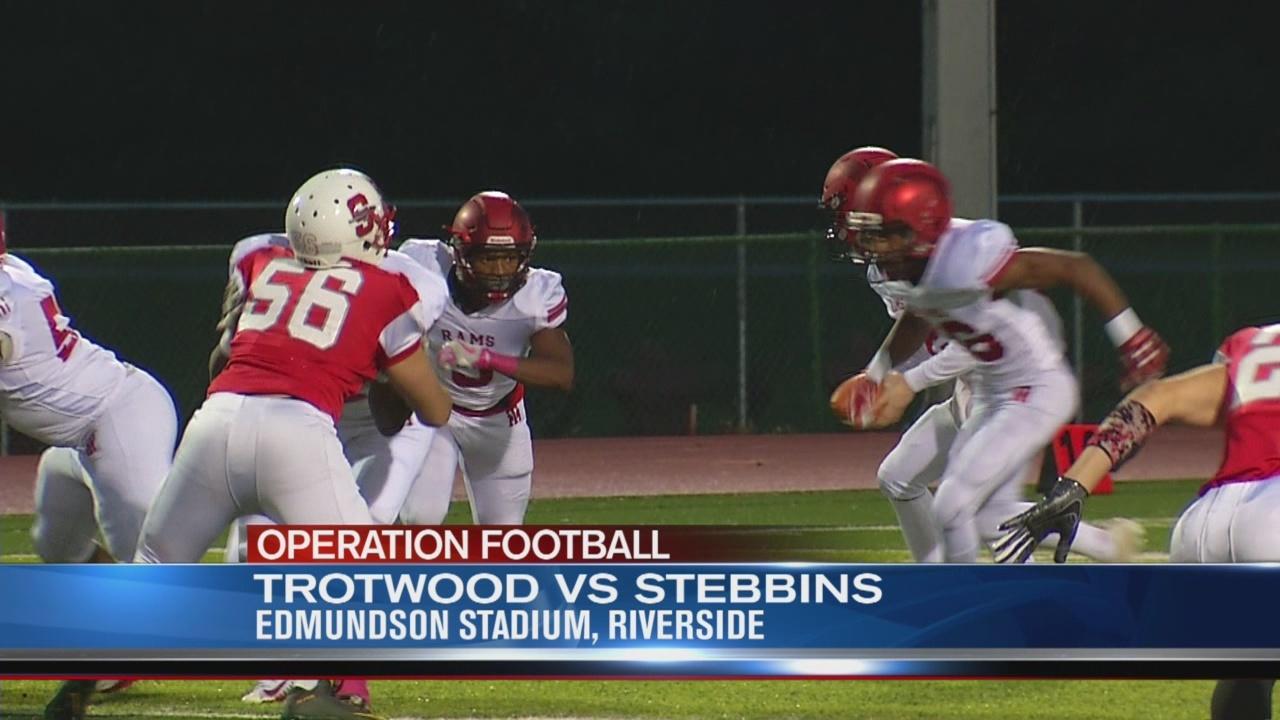 Operation Football Week 8: Trotwood at Stebbins