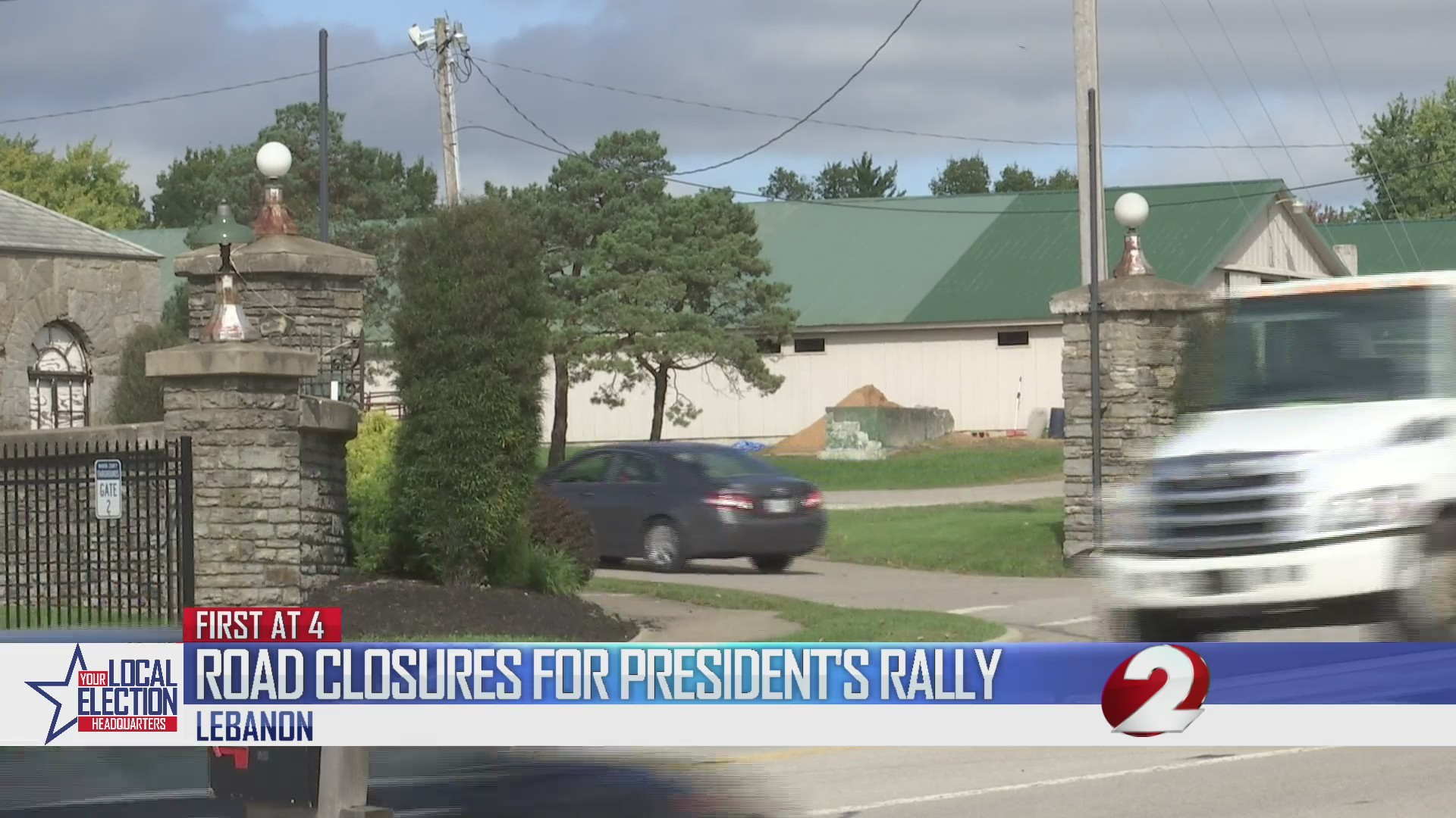 Road closures for President's rally