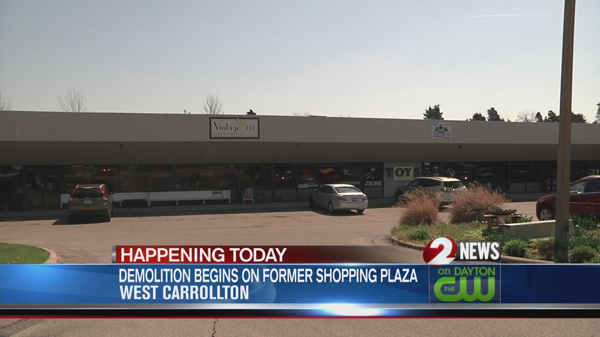 Demolition of West Carrollton plaza begins Monday