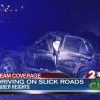 Man blames slick roads for crash