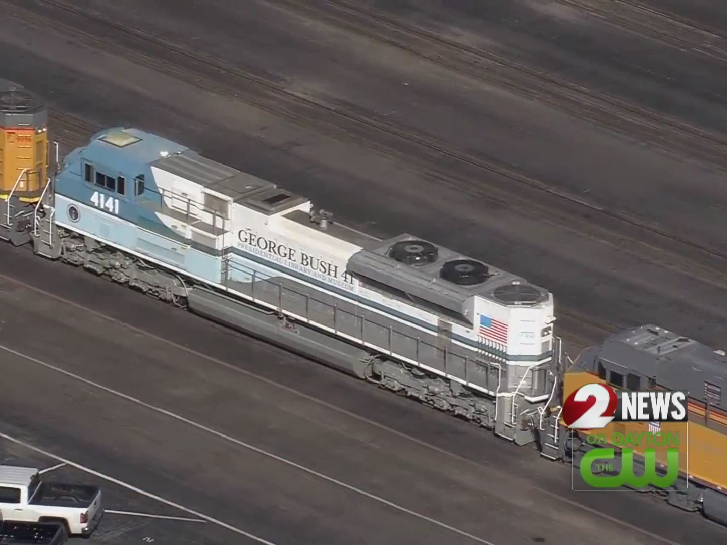 """""""Bush 4141"""" locomotive will take former president to final resting place"""