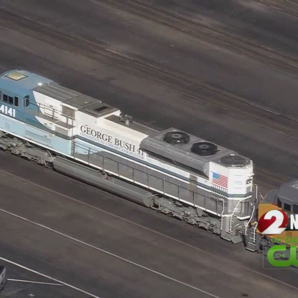 """Bush 4141"" locomotive will take former president to final resting place"