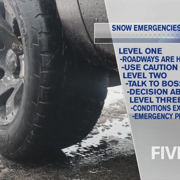 Snow Emergency Level breakdown ahead of winter storm