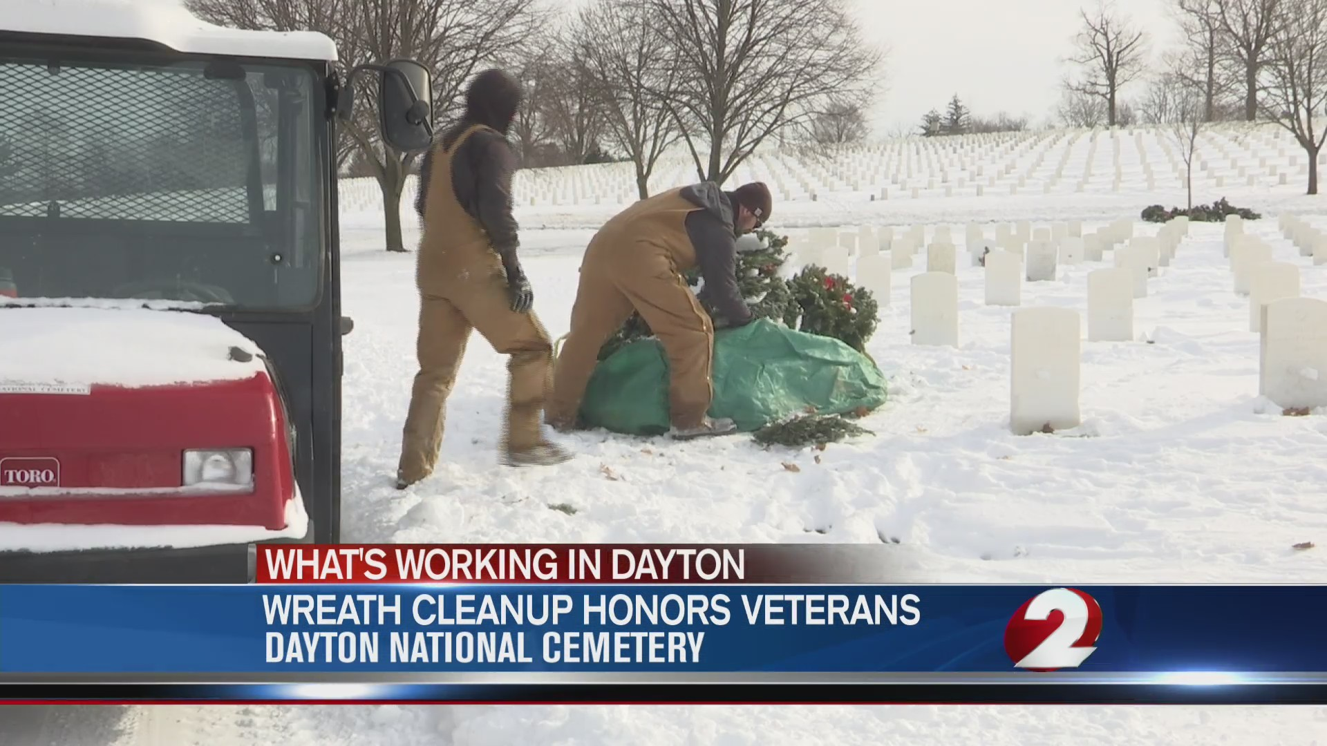 Wreath cleanup honors veterans