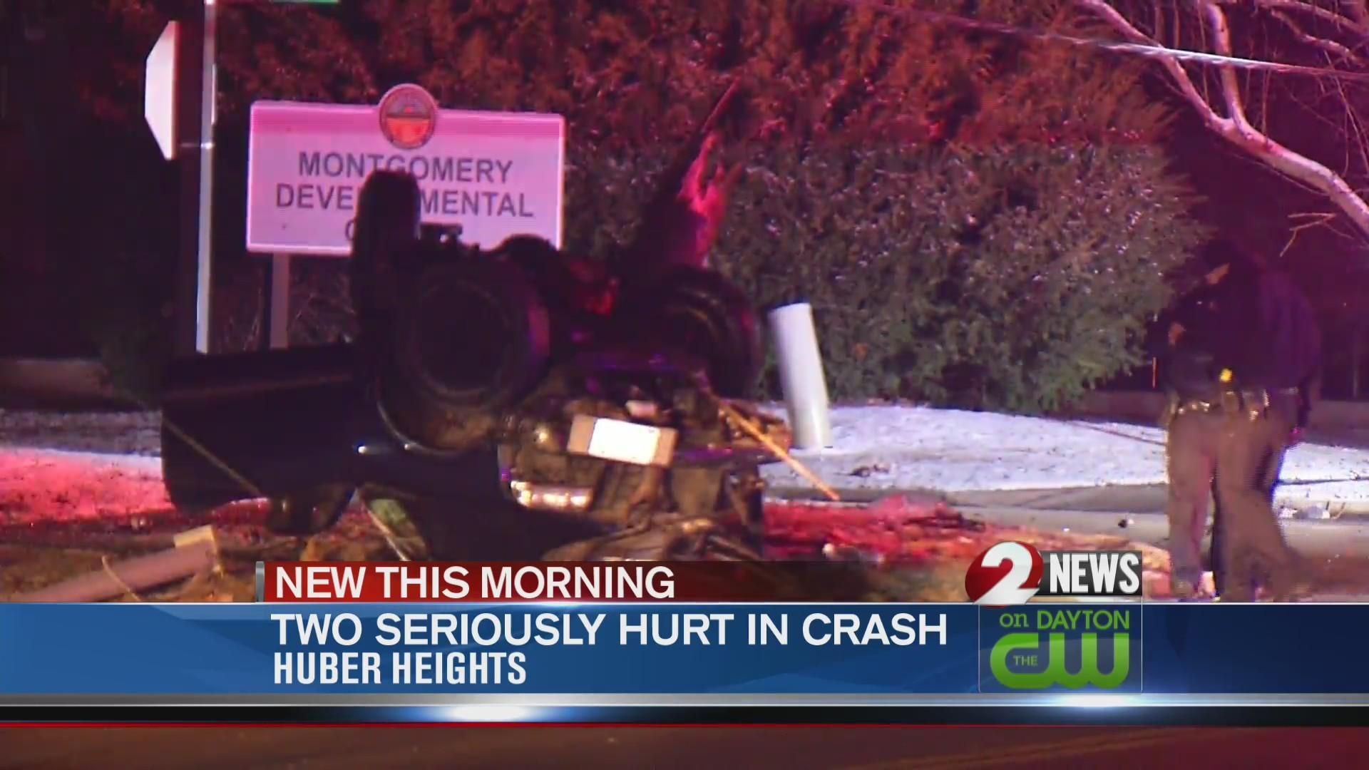 2 hurt in Huber Heights rollover crash