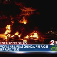 Crews work to control massive fire at Texas petrochemicals plant