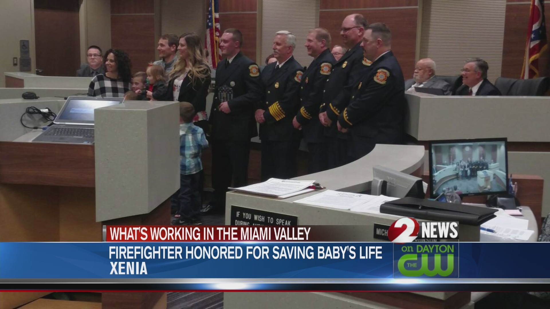 Xenia firefighter honored for saving baby's life