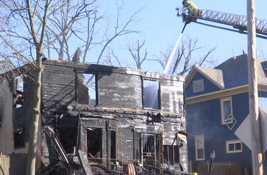 Fire crews douse hot spots