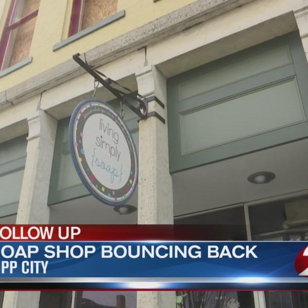 Soap shop bouncing back