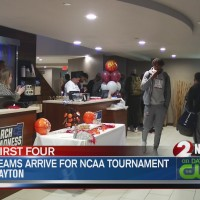 Teams arrive for NCAA tournament