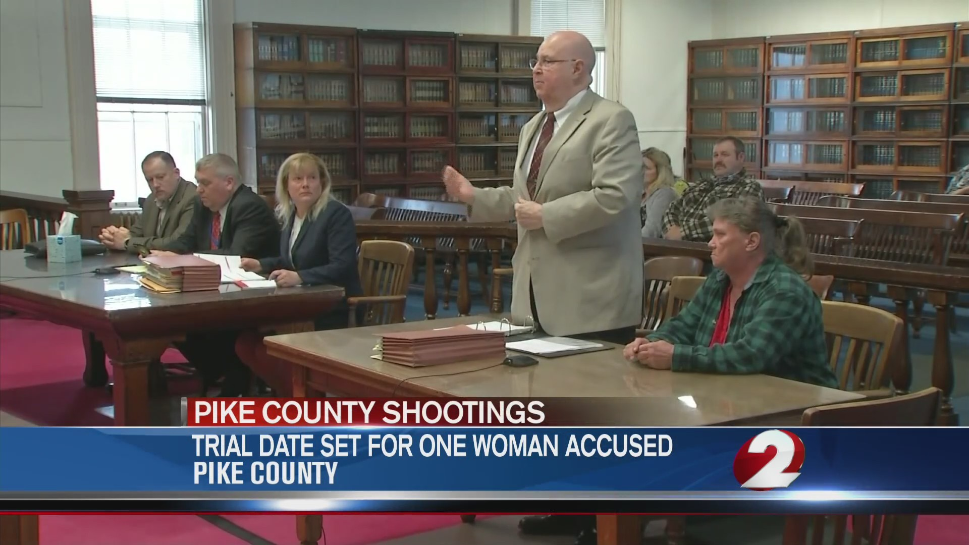 Trial date set for one woman accused in Pike County murders