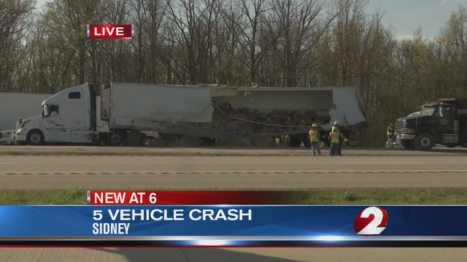 All lanes of I-75 SB in Sidney reopen after crash involving cars, semis