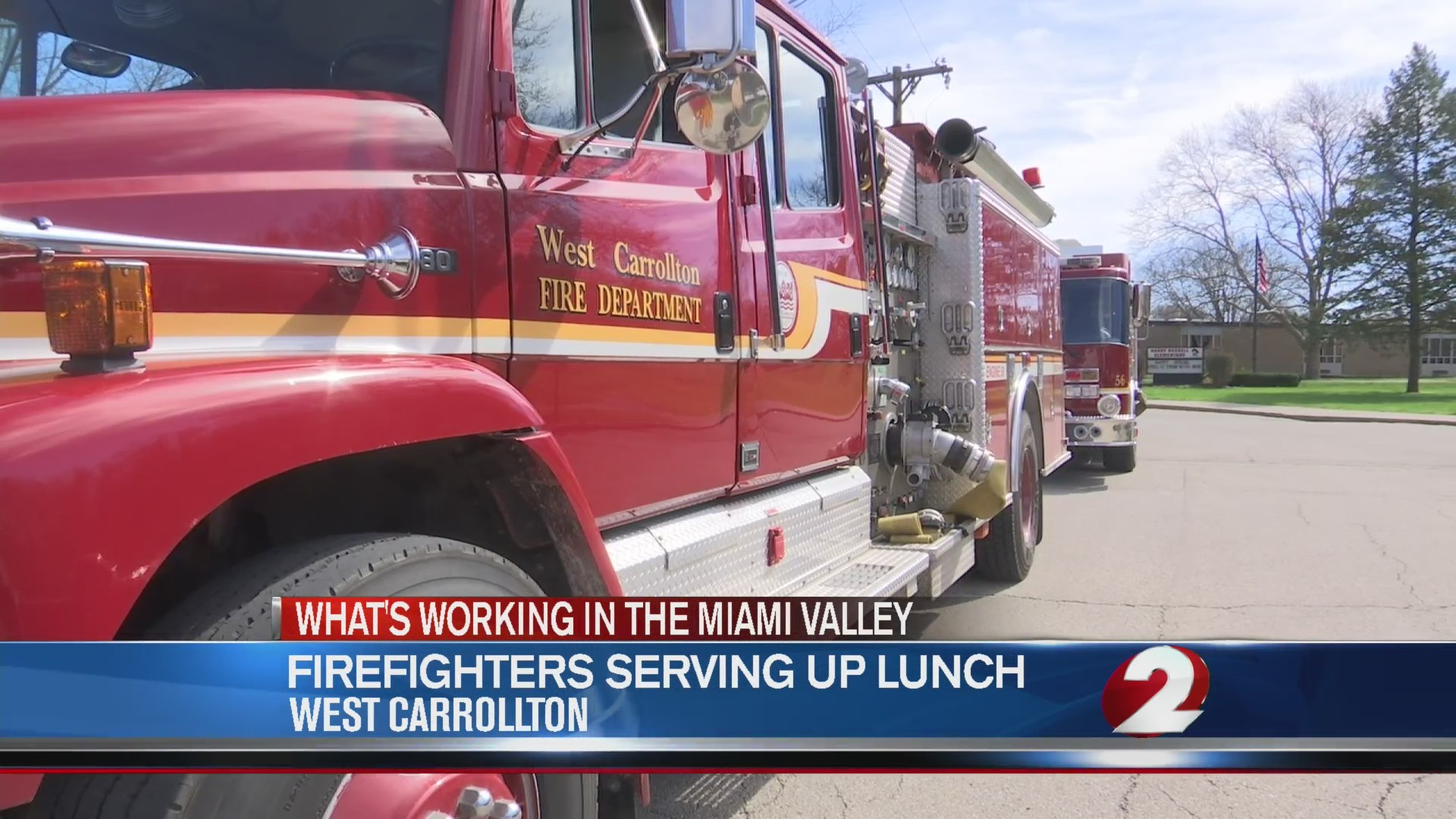 Firefighters serving up lunch in West Carrollton