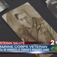 Marine Corps veteran to be honored at Sunday's Dragons game