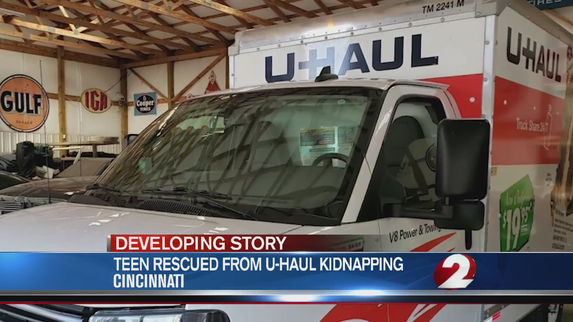 Missing teen found in U-haul, 3 charged with human trafficking