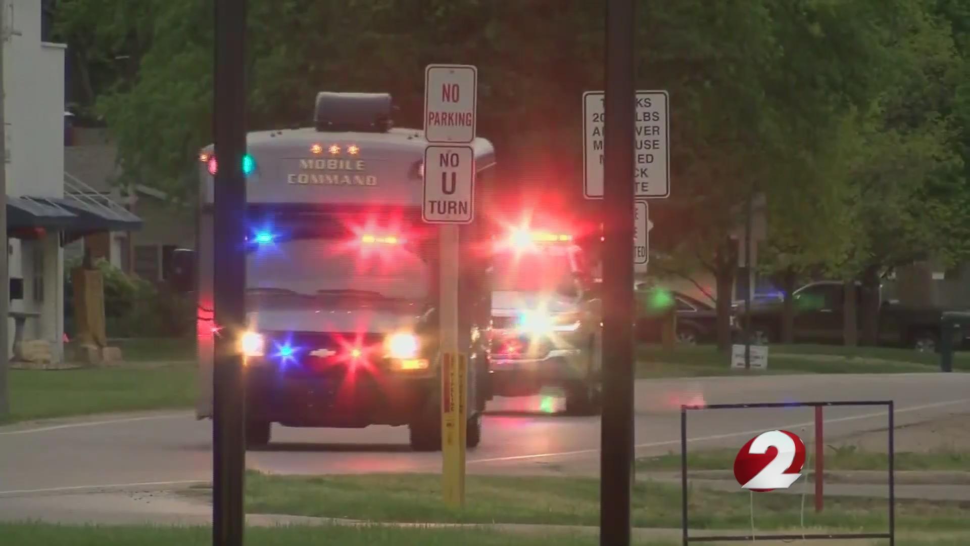 Sheriff, undersheriff shot; standoff follows