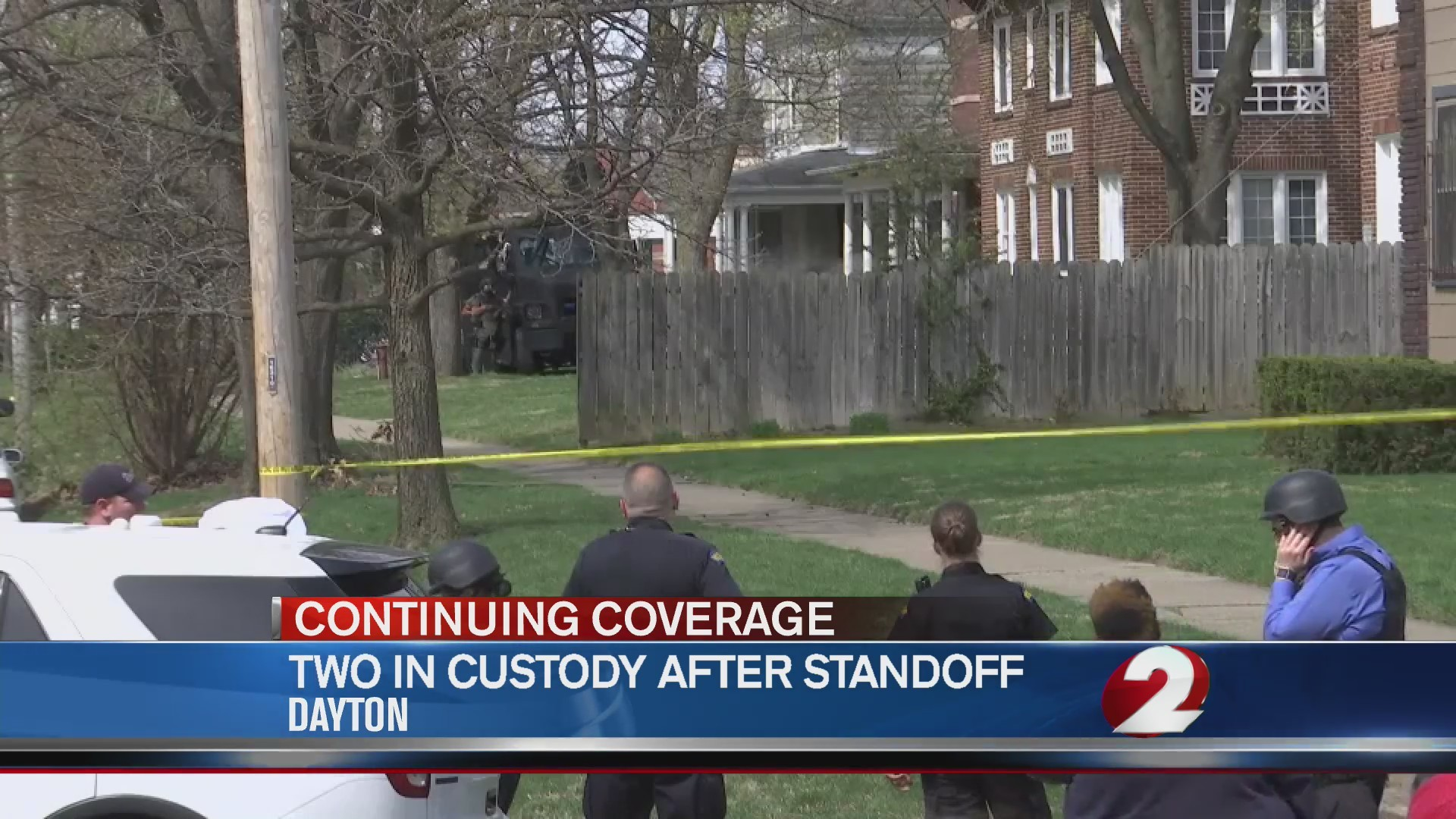 Two in custody after Dayton standoff