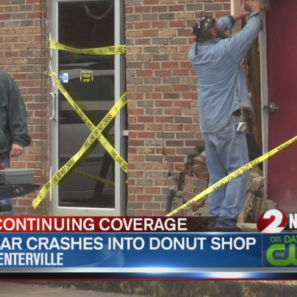 Car crashes into Bill's Donut Shop