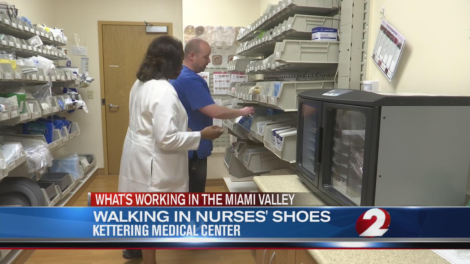 Walking in nurses' shoes