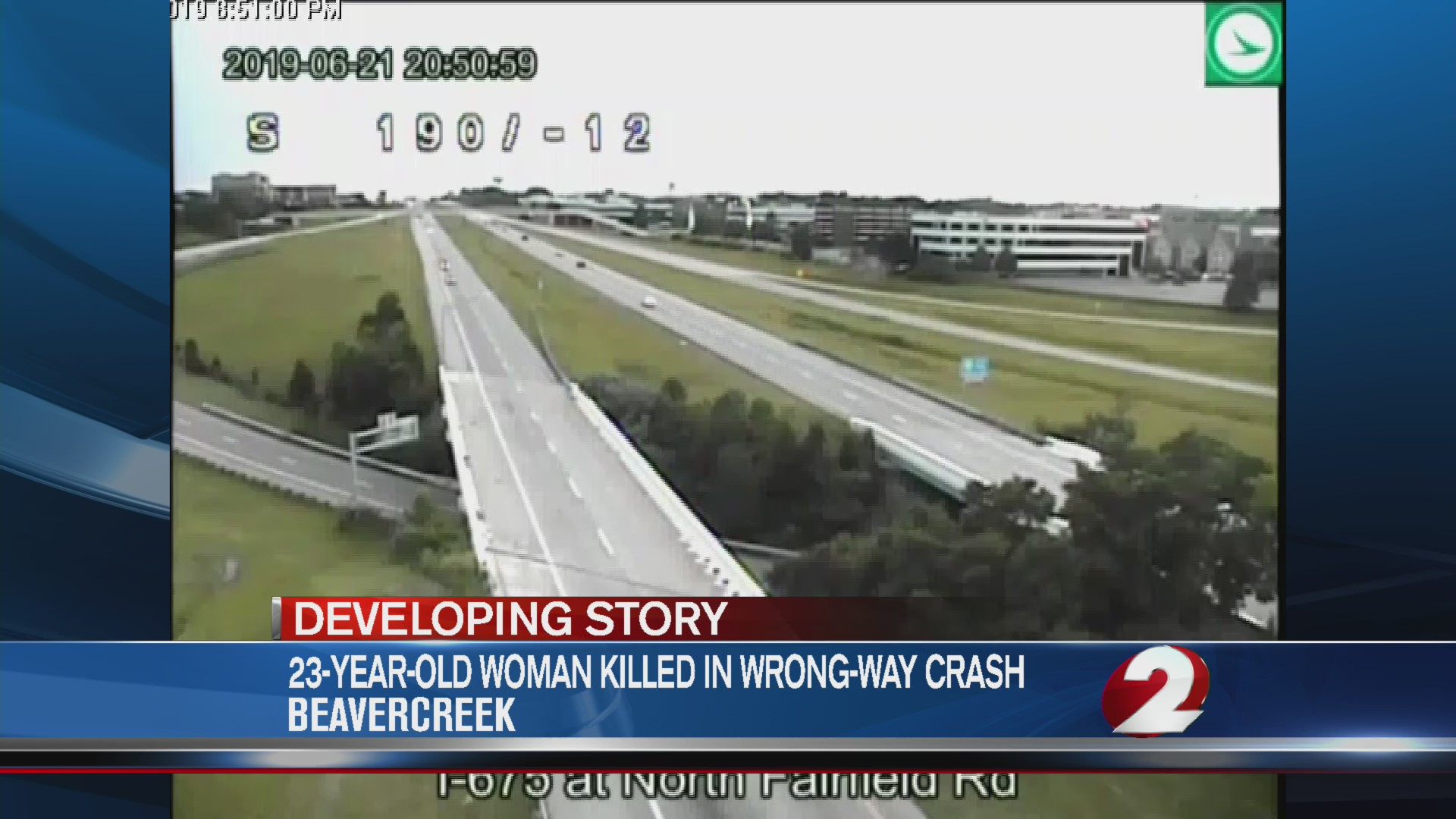 Victim identified in deadly wrong-way crash on I-675 NB   WDTN
