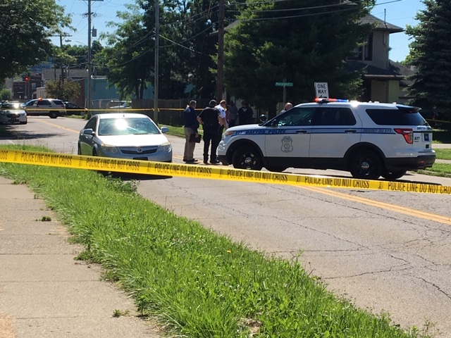 Man shot in stomach on Dayton street corner