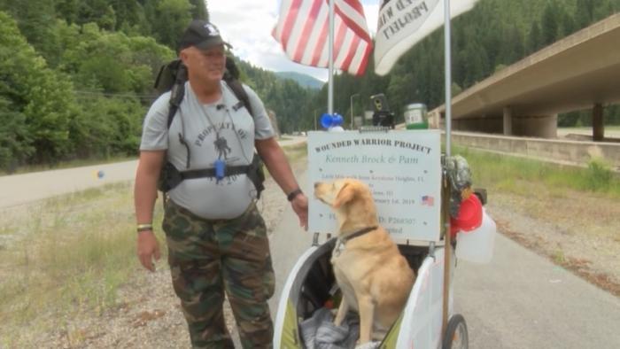 Vet walks 2,600 miles