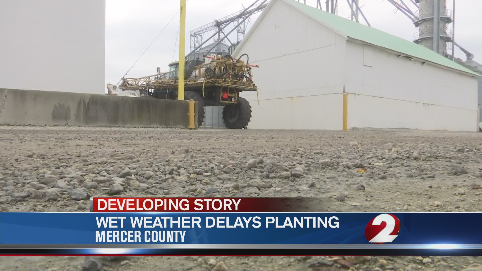 Wet weather delays planting
