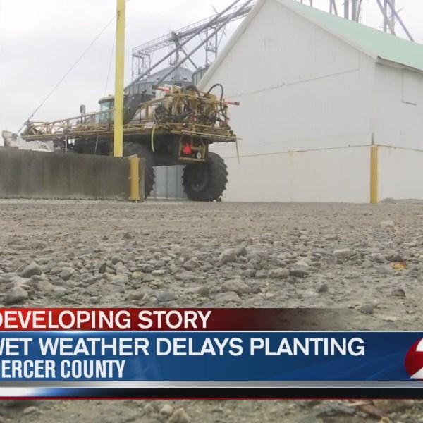 Wet weather delays planting