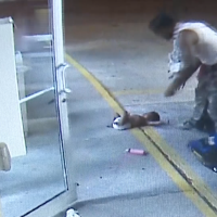 Baby thrown from car seat, landing on concrete during fight at gas station