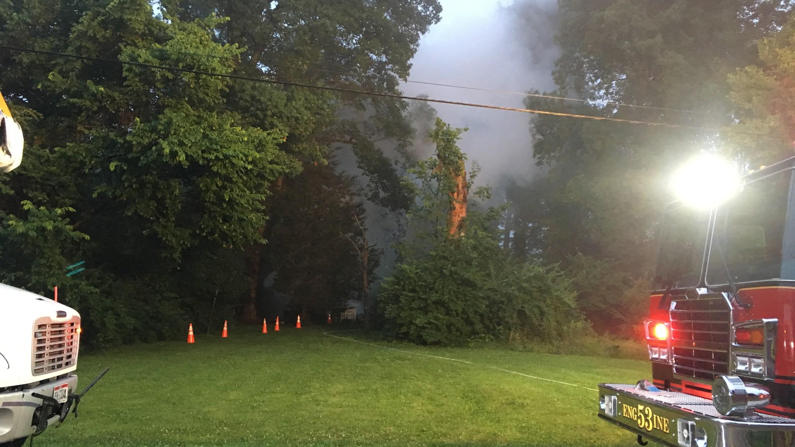 Miami Township Barn Fire