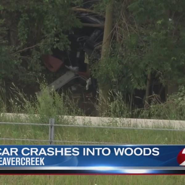 Car crashes into a tree in Beavercreek