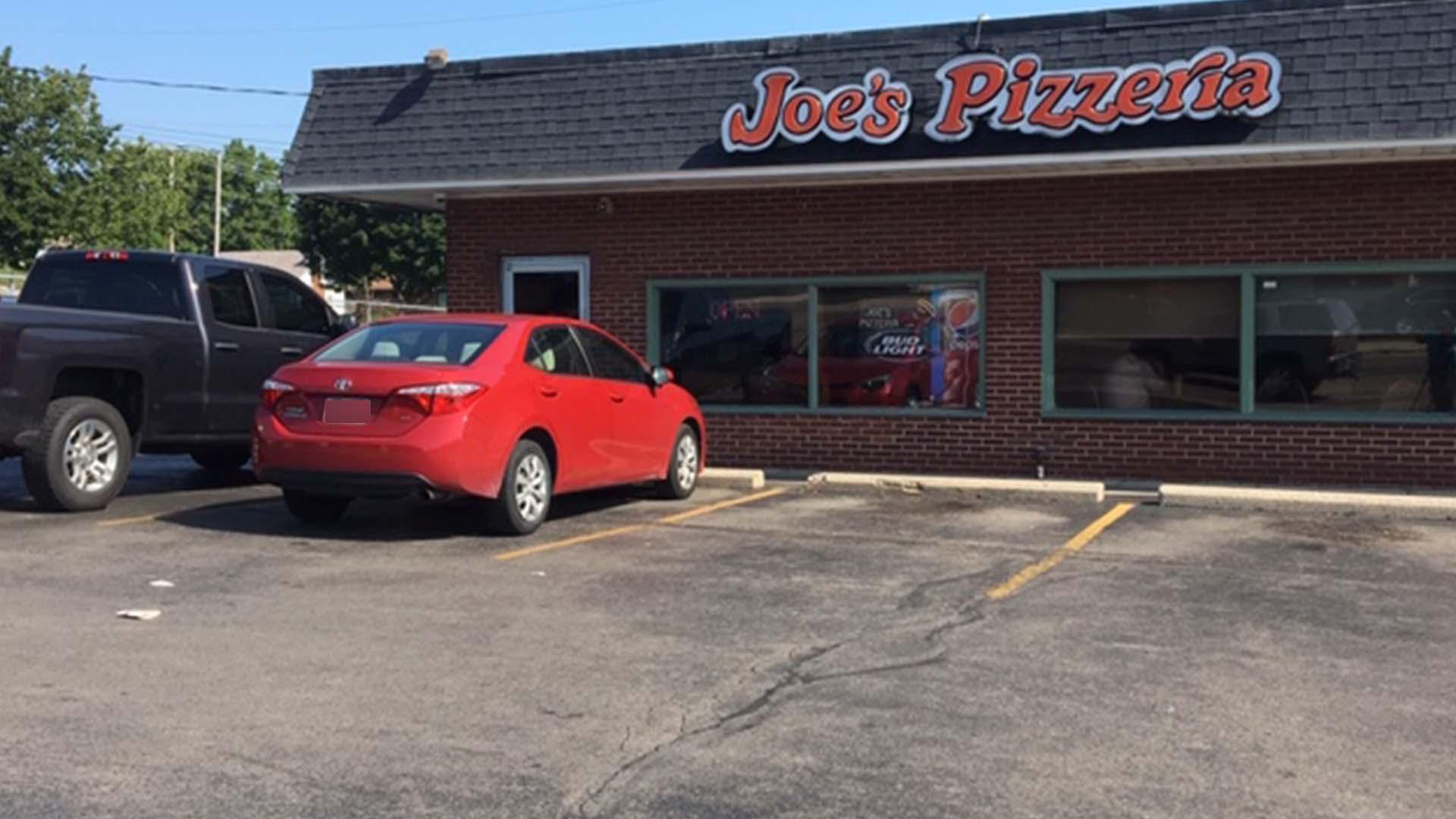 Car into Joe's Pizza