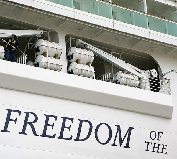 GBR: Freedom Of The Seas Arrives In Southampton