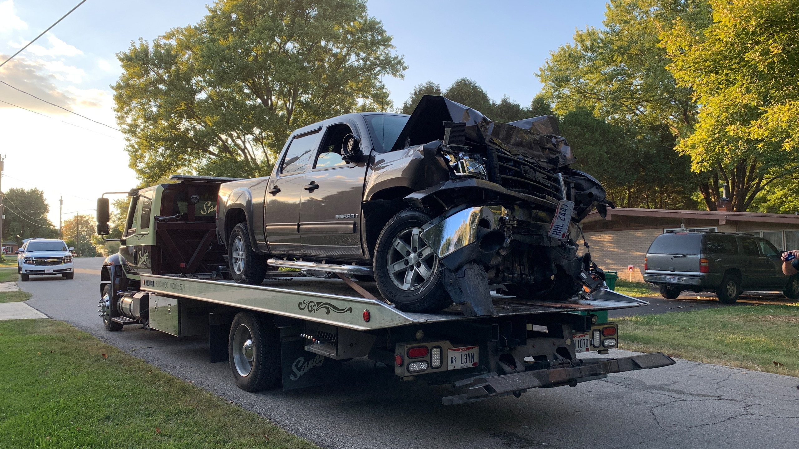 Clearcreek Township crash into house