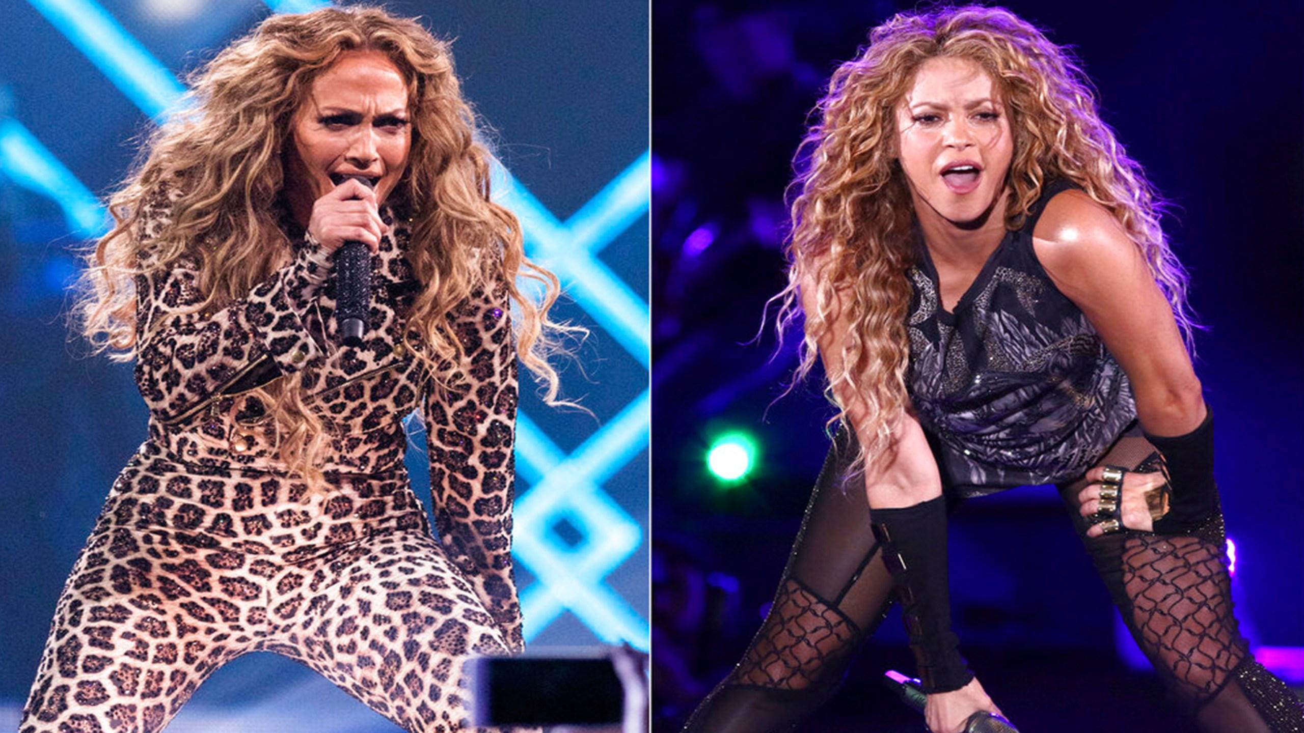 J Lo and Shakira halftime show