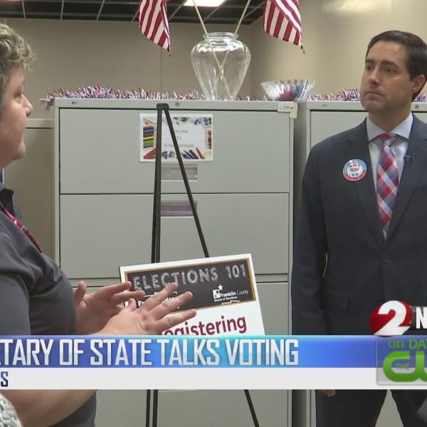 Secretary of State talks voting
