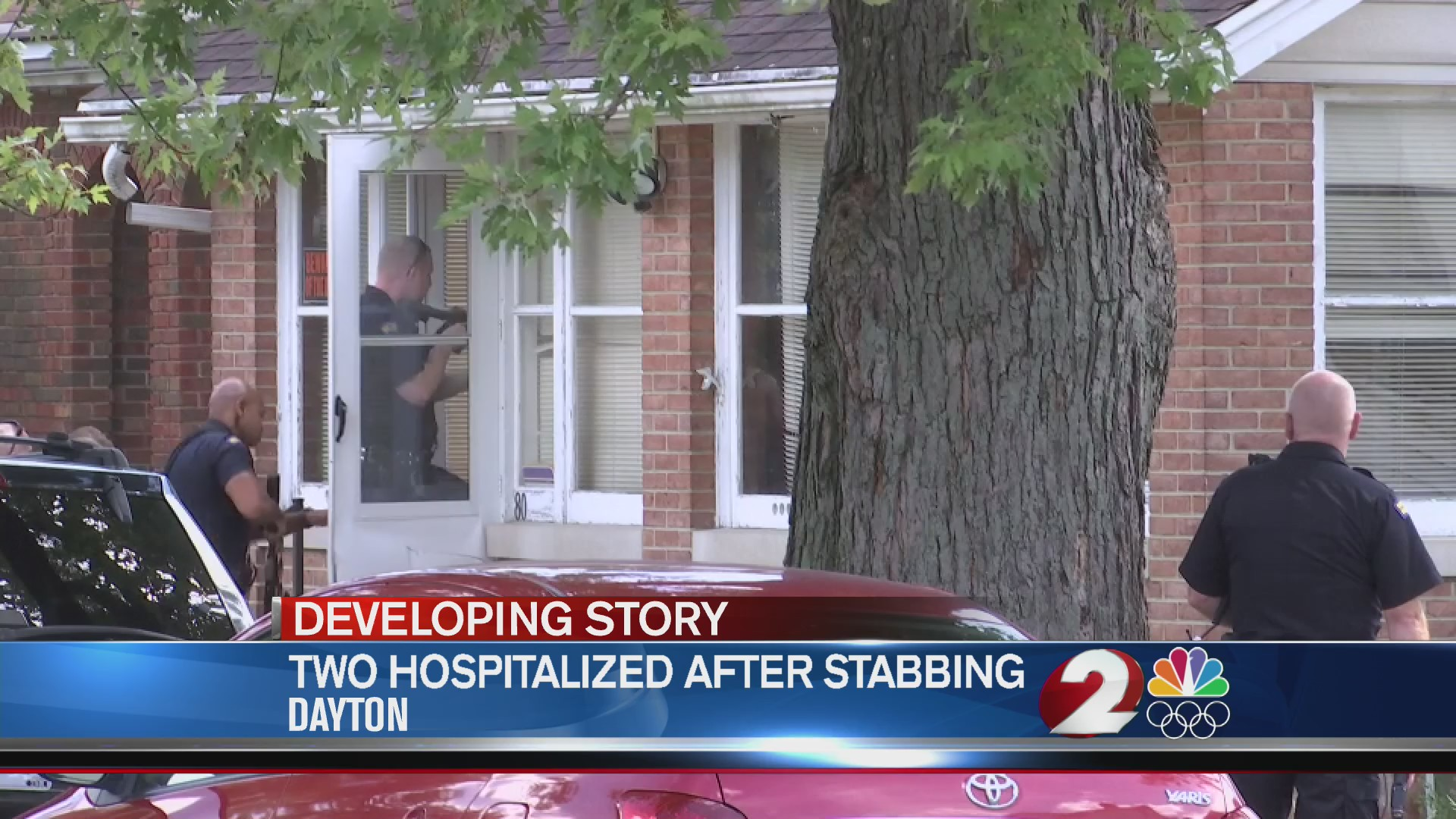 Two hospitalized after stabbing
