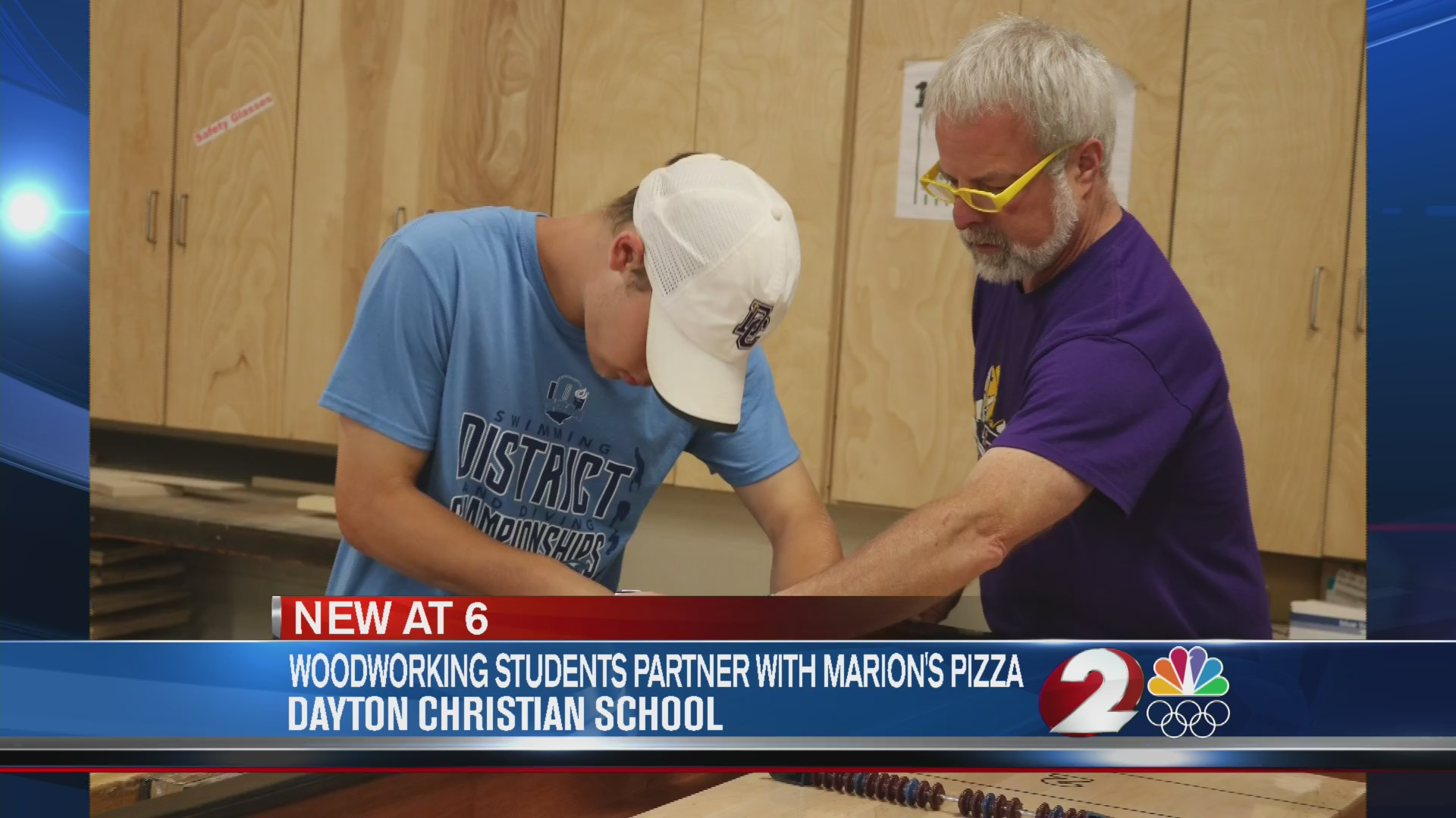 dayton christian woodworking students make pizza boards for